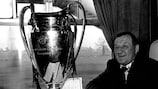 Bob Paisley with the European Cup after Liverpool's 1978 win