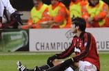 Kaká, abatido, tras la derrota del Milan