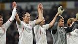 Die Spieler von Bayern feiern ihren Sieg