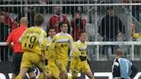 Cosmin Contra dopo il gol del pareggio a Monaco