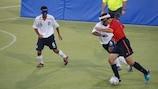 Impulso al fútbol para invidentes en los Balcanes