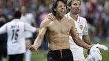 Fernando Morientes celebrates Spanish Cup victory against Getafe