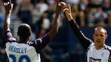 DaMarcus Beasley und Kris Boyd von Rangers FC steigen in der nächsten Runde in den Wettbewerb ein