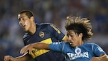 Marcelo Moreno Martins (right) in action for Cruizero against CA Boca Juniors