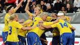 A Suécia já garantiu o apuramento
