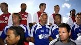 Marco Van Basten (centre) will be Christian Eriksen's new coach at Ajax