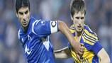Levski captain Georgi Ivanov vies with BATE's Vitali Kazantsev