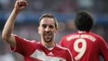 Franck Ribéry ha festeggiato molto nella sua prima stagione al Bayern
