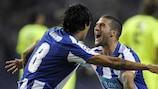 Porto pair Lucho and Lisandro celebrate on Matchday 1