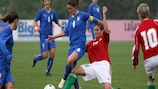 Italy's Patrizia Panico in action against Hungary
