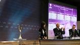 O sorteio decorreu na sede da UEFA em Nyon, na Suíça