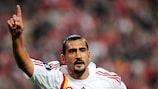 Ümit Karan (Galatasaray AŞ) bejubelt seinen Treffer