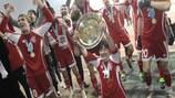 Aktobe players enjoy their title triumph