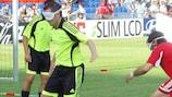 Inglaterra y España antes de un partido de la UEFA EURO 2008™