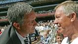 José Mourinho et Alex Ferguson, au temps où ils s'affrontaient en Angleterre