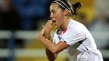 Fara Williams scored a hat-trick in England's 6-1 win
