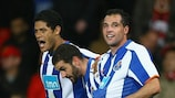 Mariano (right) is congratulated by Hulk (left) and Lisandro