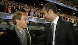 Josep Guardiola (FC Barcelona) e Jürgen Klinsmann (FC Bayern München)