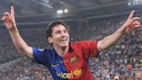 Lionel Messi struck his ninth goal of this campaign in Rome