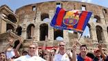 Aficionados del Manchester United FC y FC Barcelona