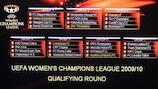 The qualifying round draw was made on Wednesday