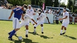 France took on England in the European Blind Football Championship final in Nantes