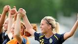 Гол Оливии Схоуг обеспечил сборной Швеции путевку во второй отборочный раунд