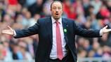 Liverpools Trainer Rafael Benitez konnte das Gegentor nicht glauben