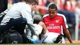 Arsenals Theo Walcott hat sich am Samstag erneut verletzt
