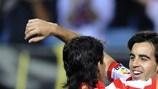 José Manuel Jurado y Sergio Agüero (Club Atlético de Madrid)