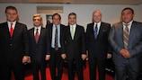 Michel Platini lors de Turquie - Arménie