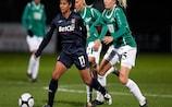 El Lyon en el partido ante el Fortuna