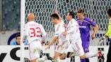 Auch Debreceni (weiße Trikots) steigt in der zweiten Qualifikationsrunde in die Champions League ein