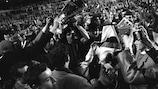 """""""Милан"""" празднует победу в Кубке чемпионов-1968/69"""