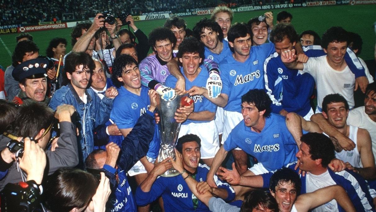 1988 89 Maradona Leads The Way For Napoli Uefa Europa League Uefa Com