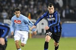 Goran Pandev (right) in action against Napoli in February 2010
