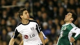 Zoltán Gera (left) challenges Wolfsburg's Zvjezdan Misimović at Craven Cottage