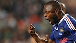 William Gallas celebrates scoring France's equaliser in their friendly in Tunisia