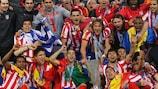 Il Club Atlético de Madrid campione in carica