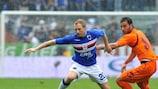 Marco Padalino (left) has been a peripheral figure for Sampdoria this term