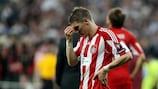Bastian Schweinsteiger desiludido após a derrota do Bayern na final de 2010, realizada em Madrid