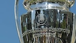 The UEFA Champions League trophy will be lifted by the winners at Wembley on 28 May