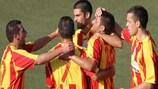 Trevor Cilia del Birkirkara celebra la victoria ante el Santa Coloma
