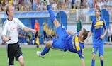BATE's Artsiom Kantsavy tries his luck against FH