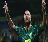 Ivan Lietava enjoys scoring Žilina's second goal against Birkirkara