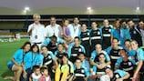 El Apollon Limassol LFC, exultante tras su victoria