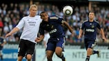 Rosenborg's Steffen Iversen (left) has already scored against København