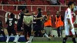 Nenê strike sees PSG stun Sevilla