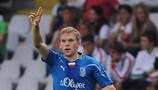 Artjoms Rudņevs hit a hat-trick for Lech against Juventus