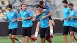 Imagen de un entrenamiento del Club Atlético de Madrid